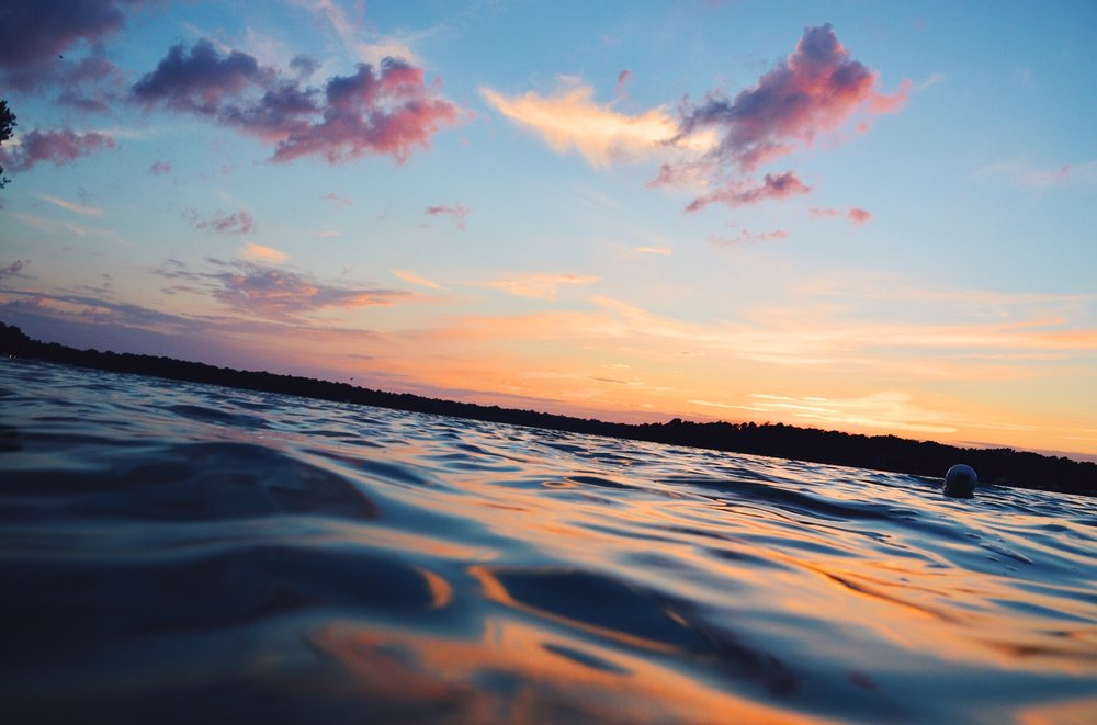 sunset over beaver lake hartland wisconsin