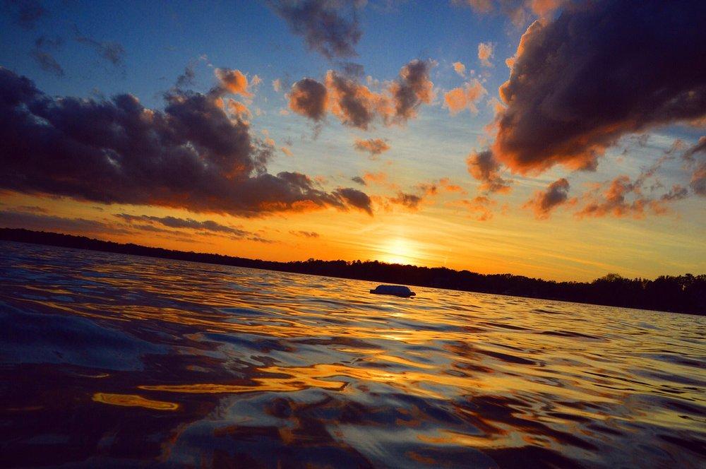 sunrise on wisconsin lake