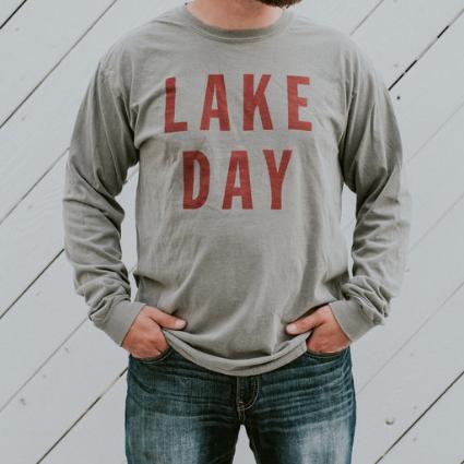 Lake Day Grey Long Sleeve