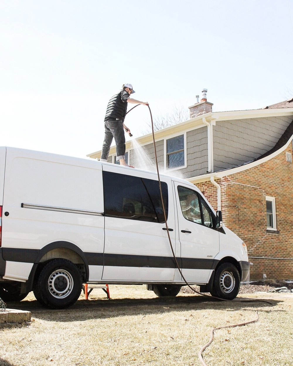 washing sprinter van for conversion