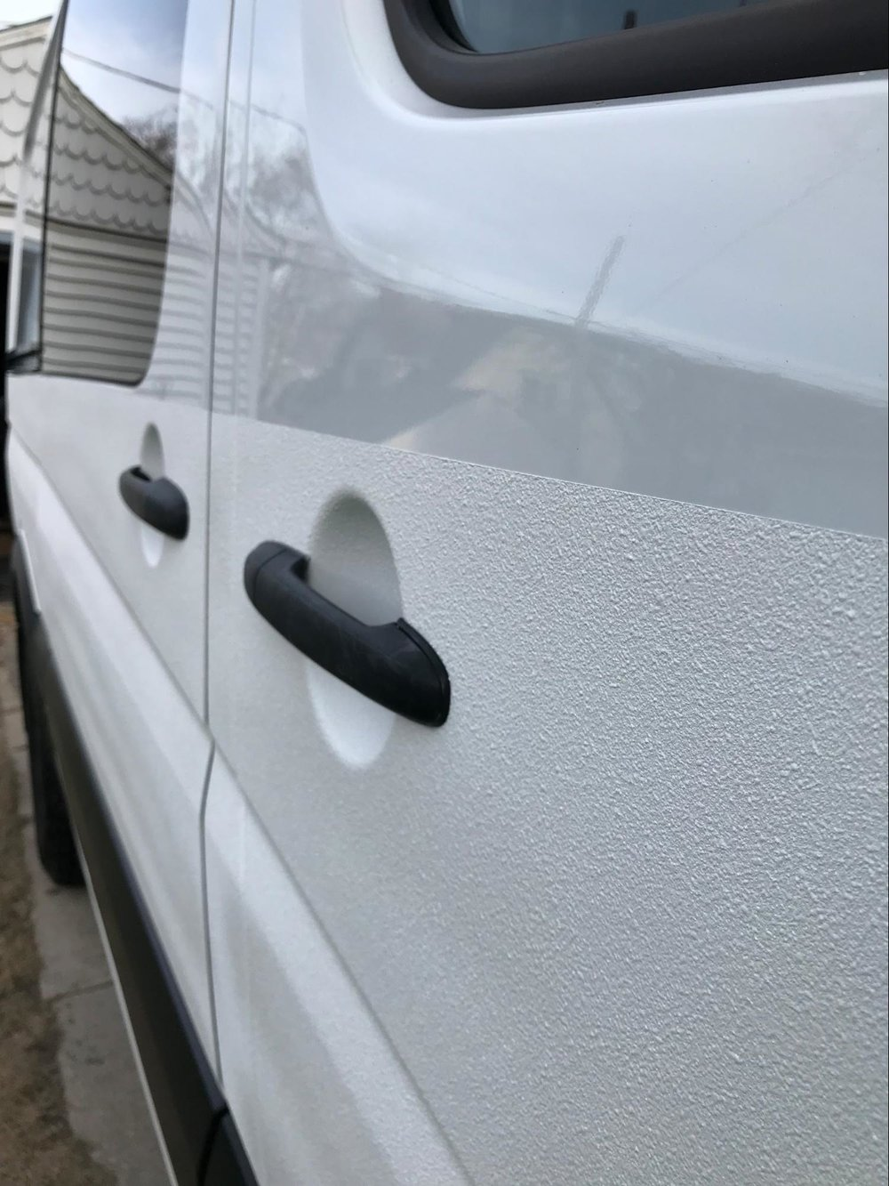 textured paint on sprinter van