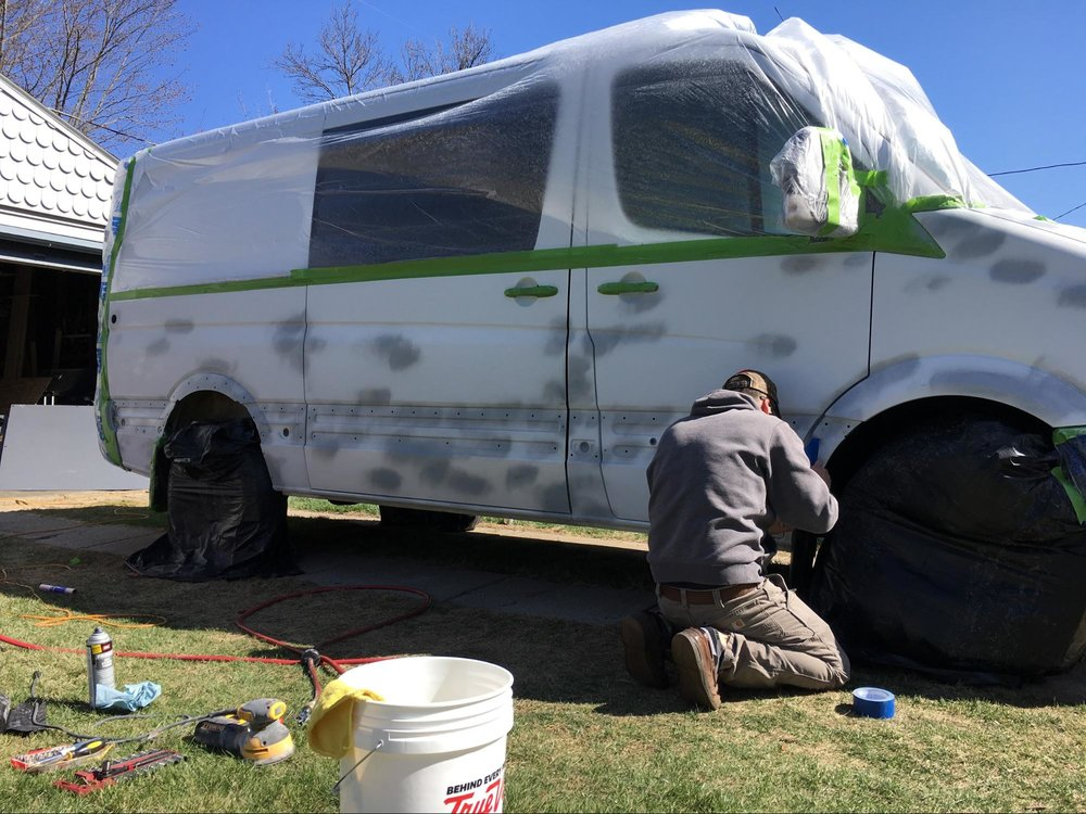 painting sprinter van