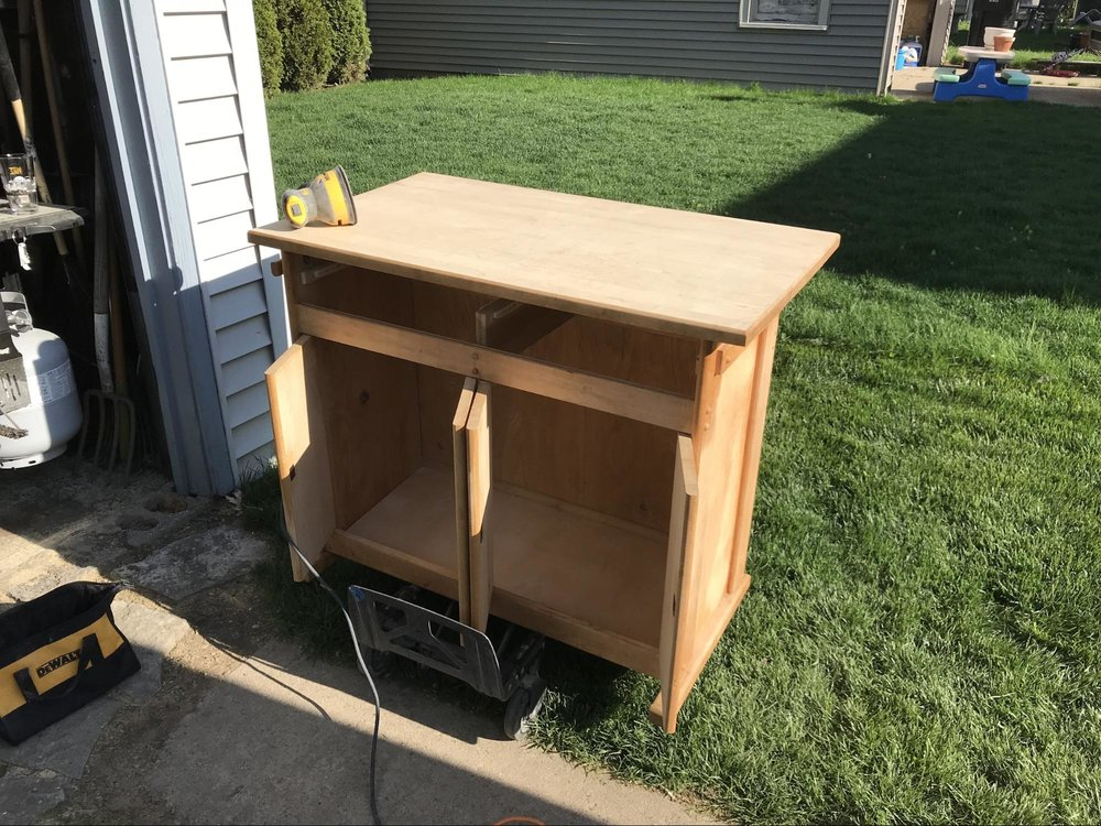kitchen cabinet for van