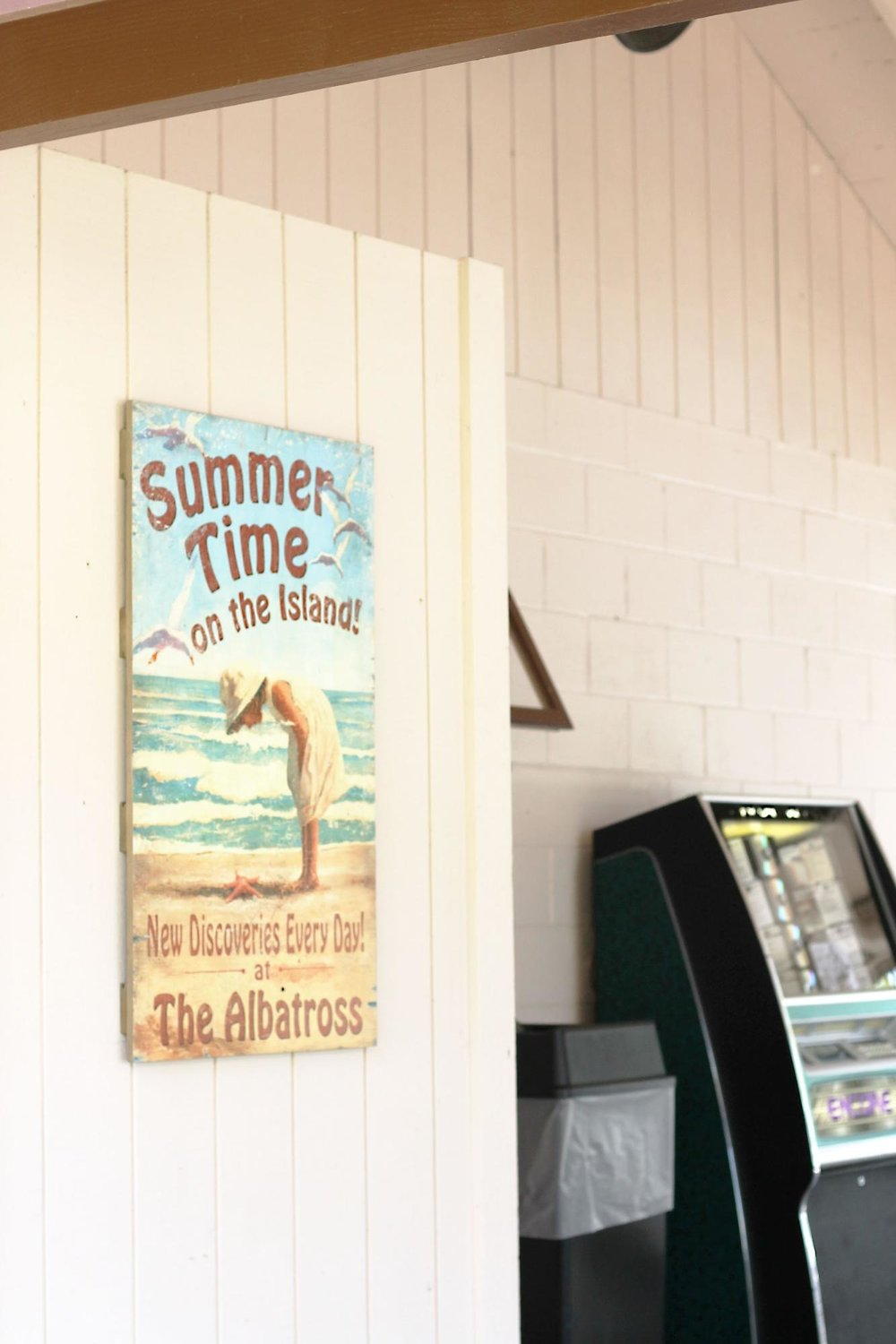 summertime on the island sign