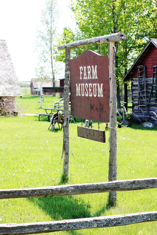 farm museum sign