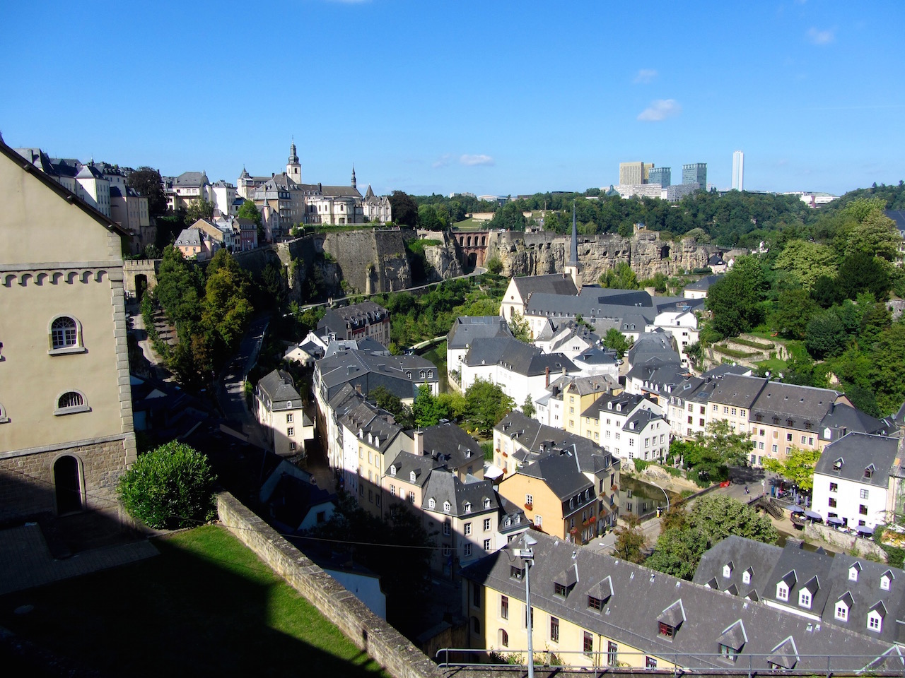 Luxembourg City upper town