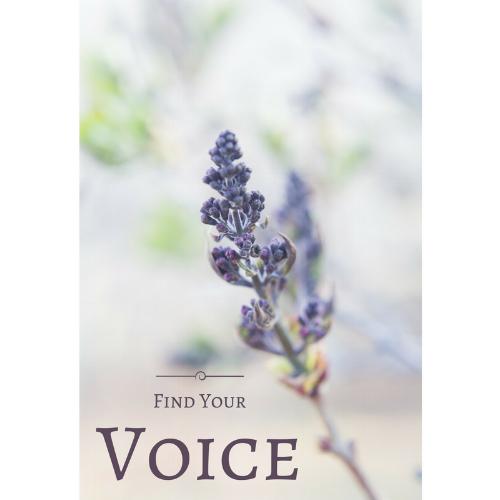 Find Your Voice Flower