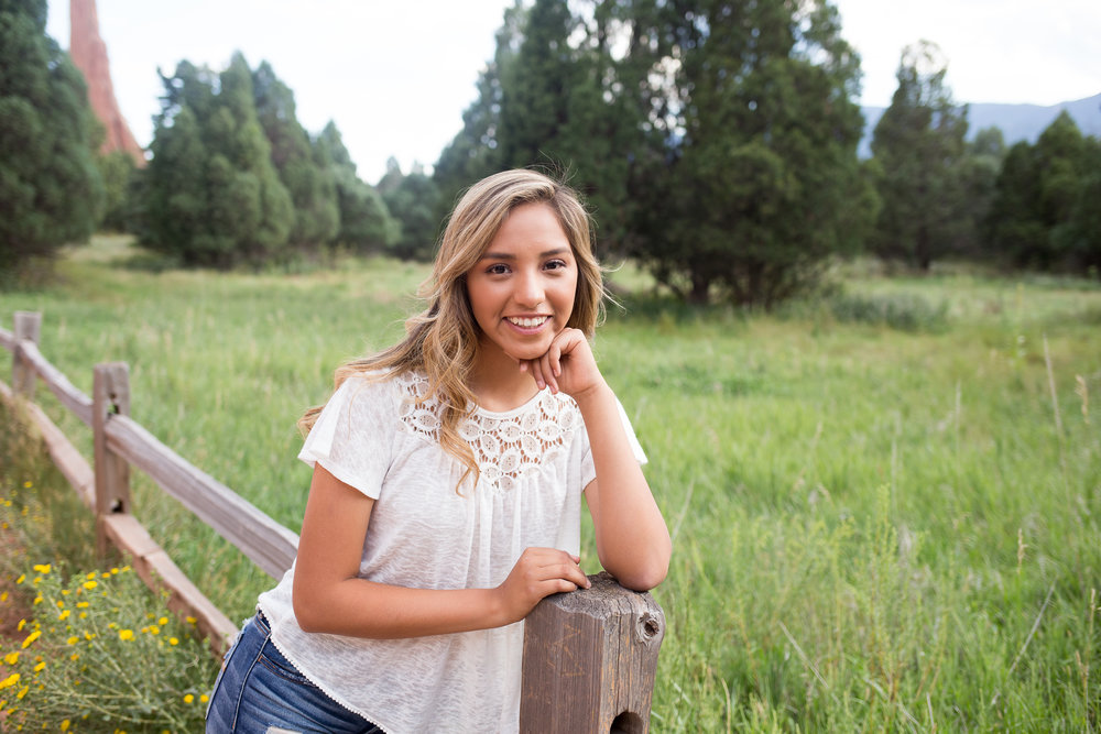 Alou Senior Session Colorado  Springs Garden of the Gods Nebraska