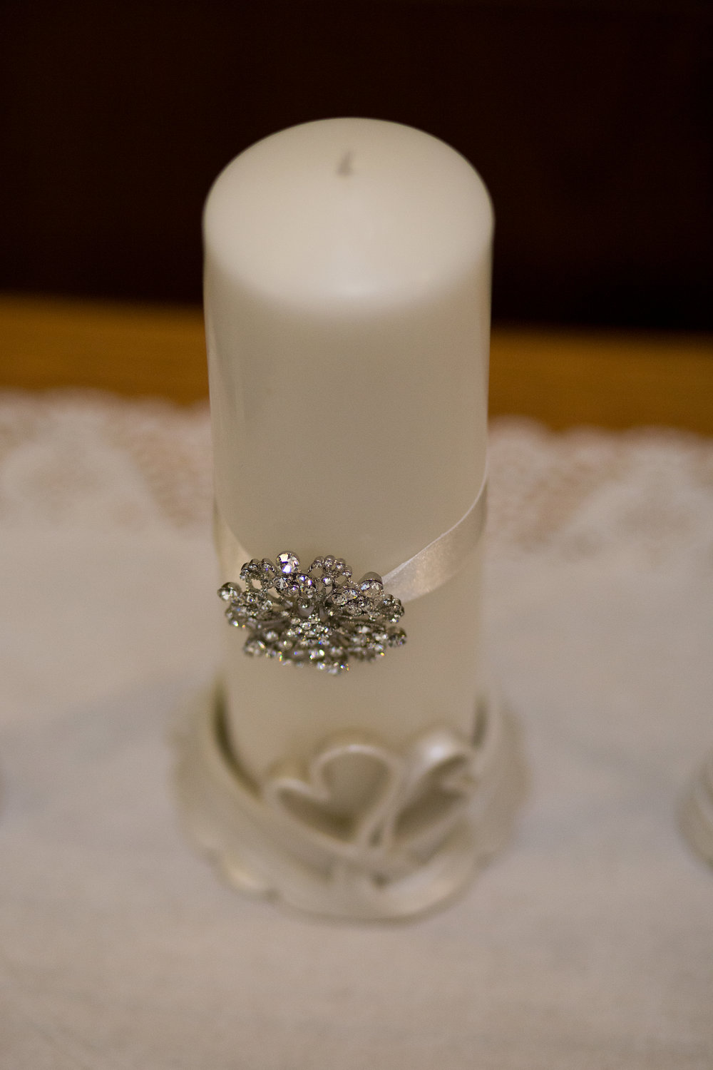 Candle for wedding at First Baptist Church in Colorado Springs Stacy Carosa Photography