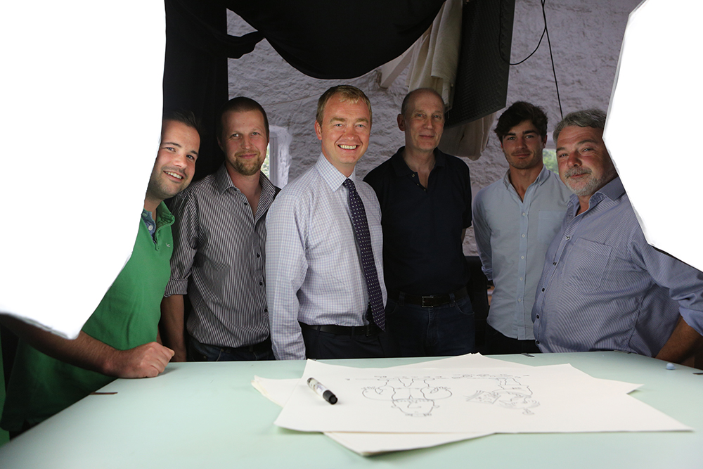 Tim Farron MP hangs out with the team