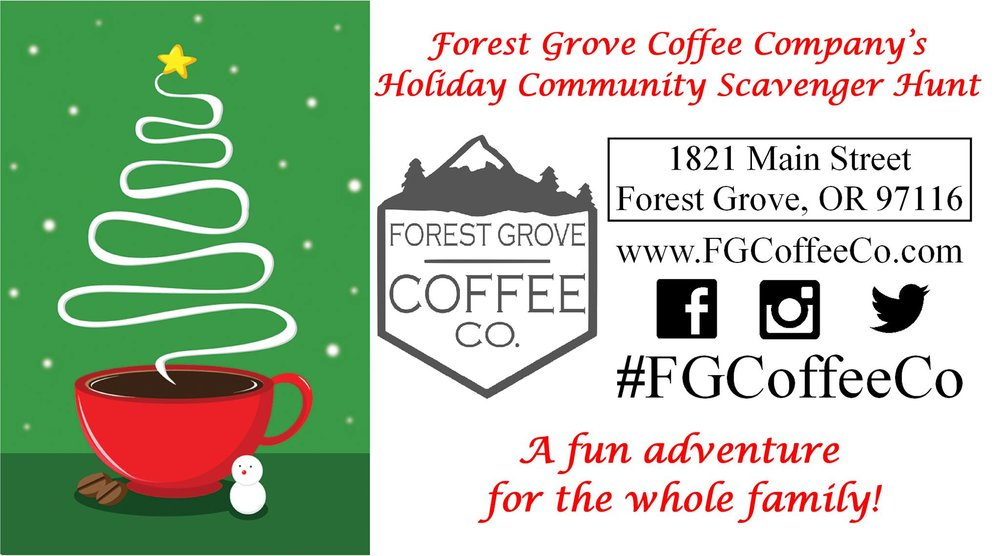 forest grove coffee company s holiday community scavenger hunt