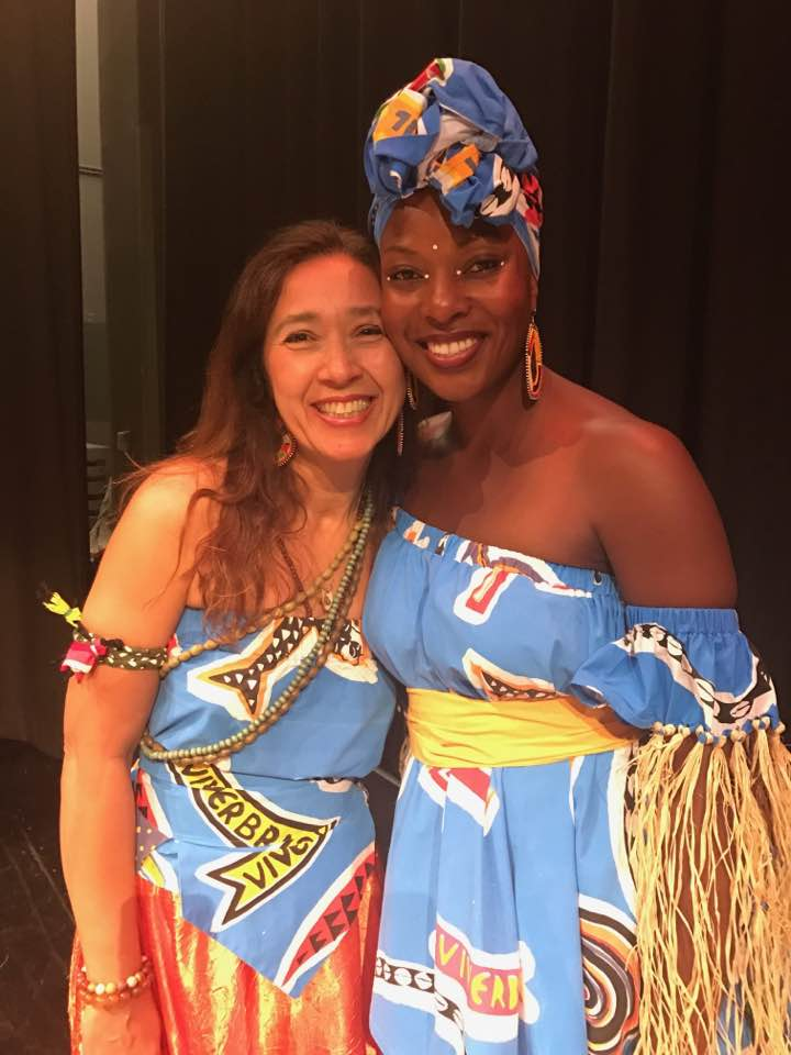 With  Felicia Onyi Richards  during our performance With Viver Brasil Dance Company at Maya Angelou High School
