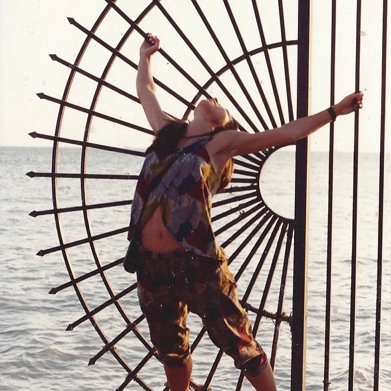 """Photo of the flyer taken by my friend Cezar Santana many years ago at the Southernmost point of the USA. Key West is 90 miles from Cuba. I thought this image was perfect for """"Songs of Protest and Change."""""""