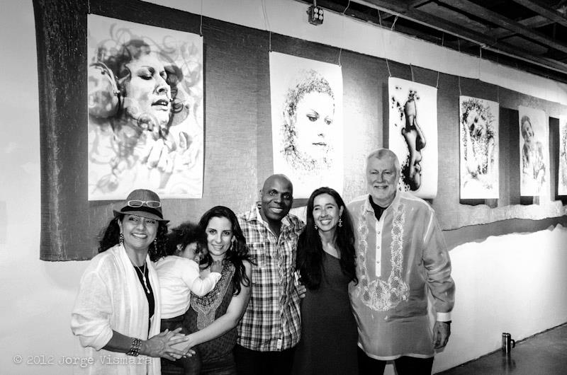 The beginning: 2012 Brazilian Heart Celebration honoring Elis Regina. From left: Marcia Argolo, Nayla and Amem with baby daughter, yours truly and Jorge Vismara @ Brasil Brasil Cultural Center.