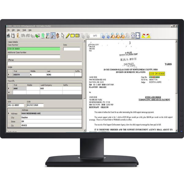 Extract Software mockup on Computer Screen Image
