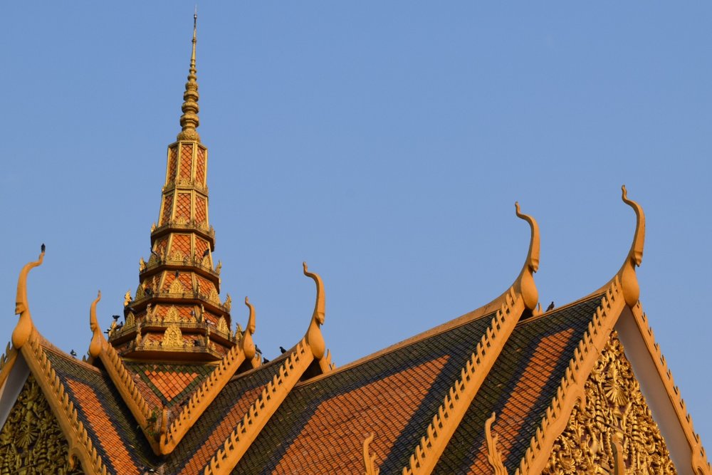 Nagas on the top of the Phocani Pavilion, which was originally constructed as a classical dance theater.  Now it is used for royal receptions and meetings.