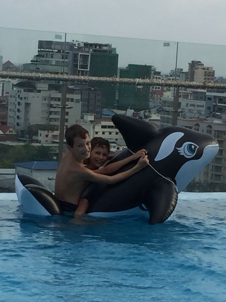 Not much to see here, just two boys and a whale....
