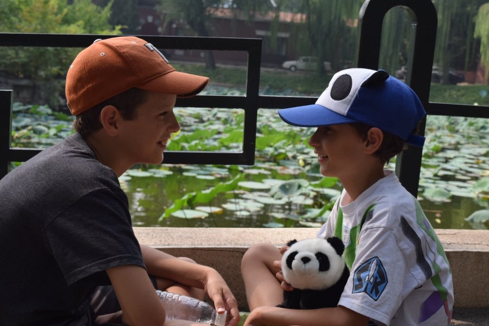 Two of our greatest blessings, at the Beijing Zoo.
