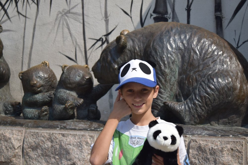 David loved the pandas at the Beijing Zoo!
