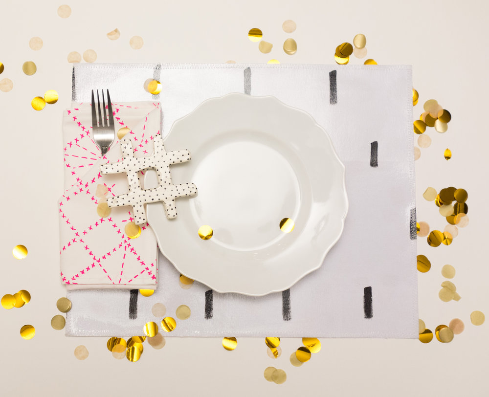 Tabled Hand Painted Dash Placemats