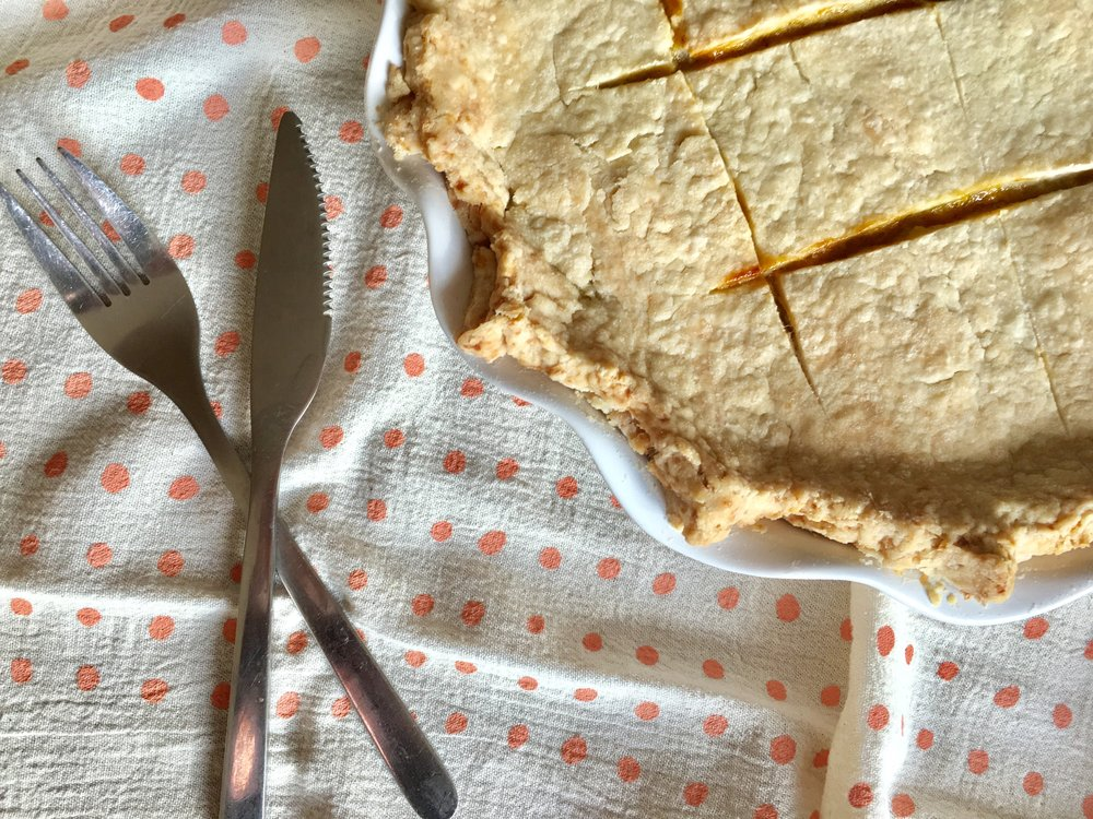 Love serving it up with our perfectly peachy tea towel.