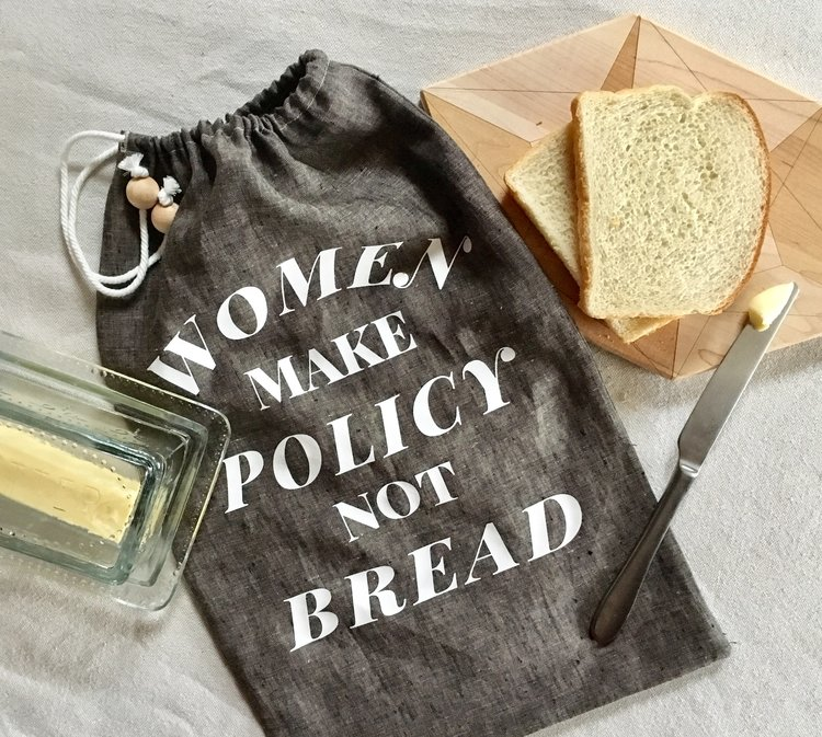 Hygge is about surrounding yourself with things that make your happy & have meaning. Our bread bag reminds me of my inspiration for this item, Women's History Month (March), and I love baking bread. Especially with my mom or grandma.