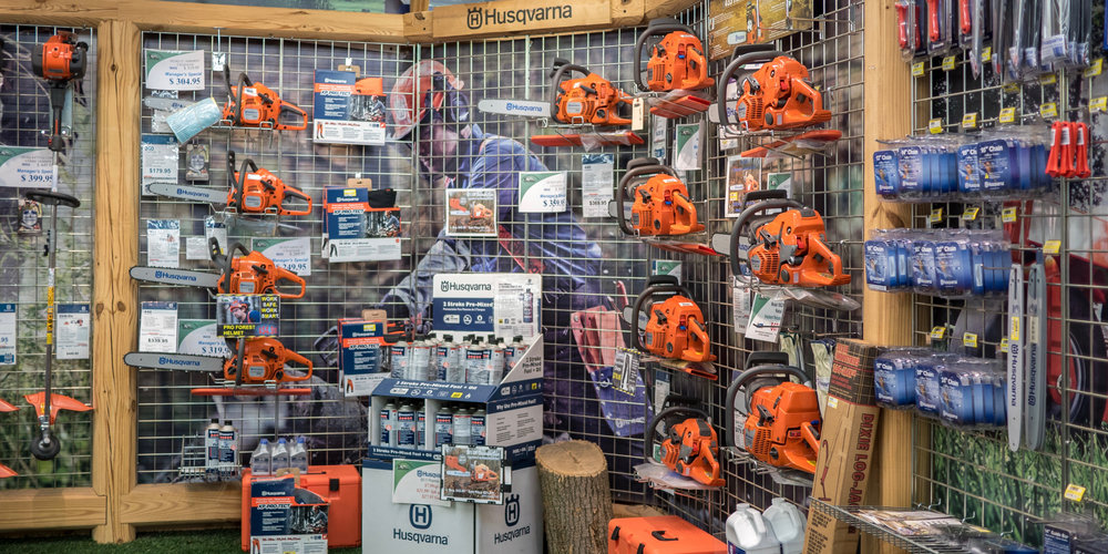 •From the hefty 372 XP, to the modest T435, we offer a large assortment of Husqvarna chainsaws. - *Financing may be available on select models.
