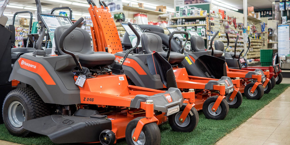 •We offer a large selection of Husqvarna zero turn mowers. Equipped with knowledge and expertise, our staff will guide you through the differences, and ultimately get you on the mower that meets your needs. -