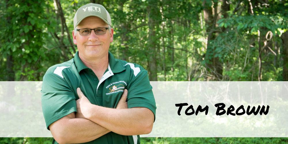 Sporting Goods team member Tom Brown of Farm & Home Hardware.