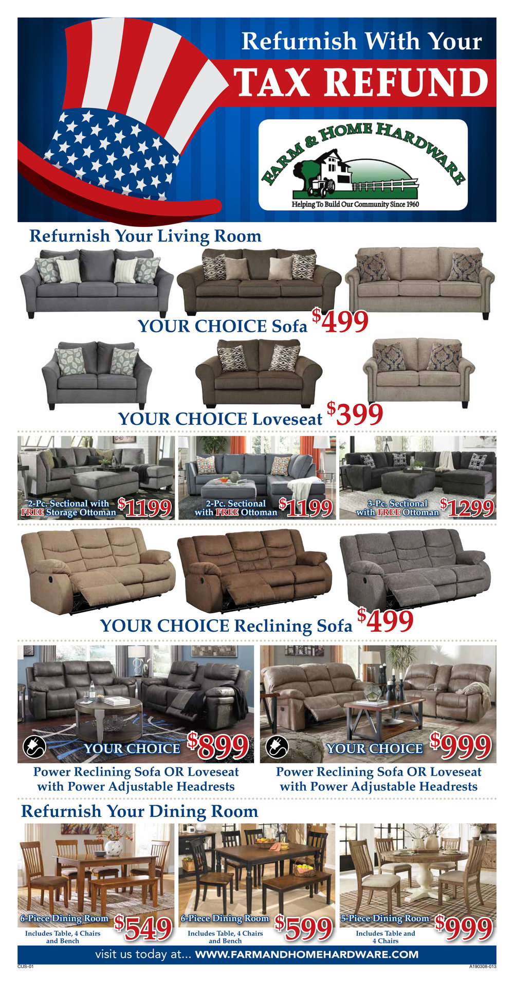 Ashley Furniture Tax Refund Sales Event Page 1