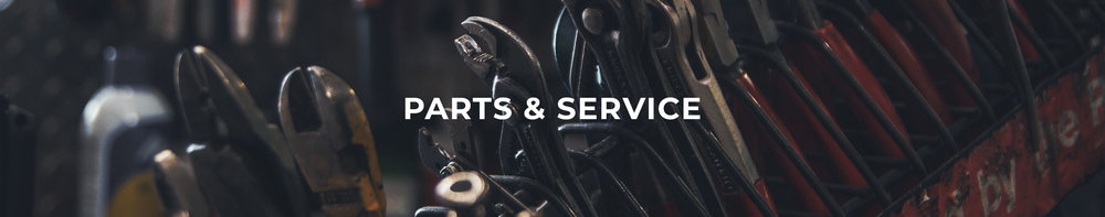 Parts & Service header image for mower repair shops near Wellington and Ashland, Ohio.