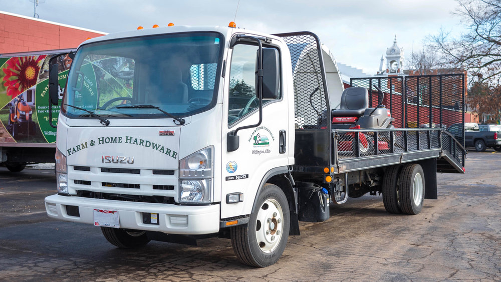 Pickup & Delivery service for lawn mowers, furniture, appliances, and grills.