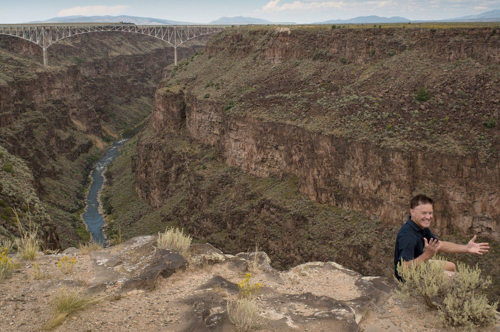 On the edge - Rio Grande Gorge - Taos, NM
