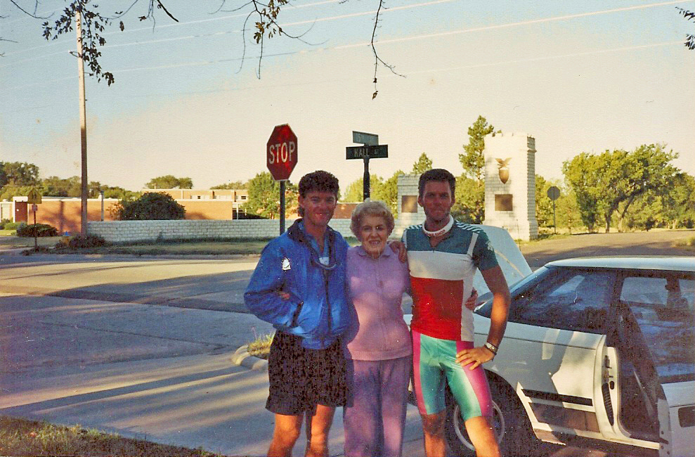 Both of us with my Grandma (Eleanor Gottschalk) in Hays, KS