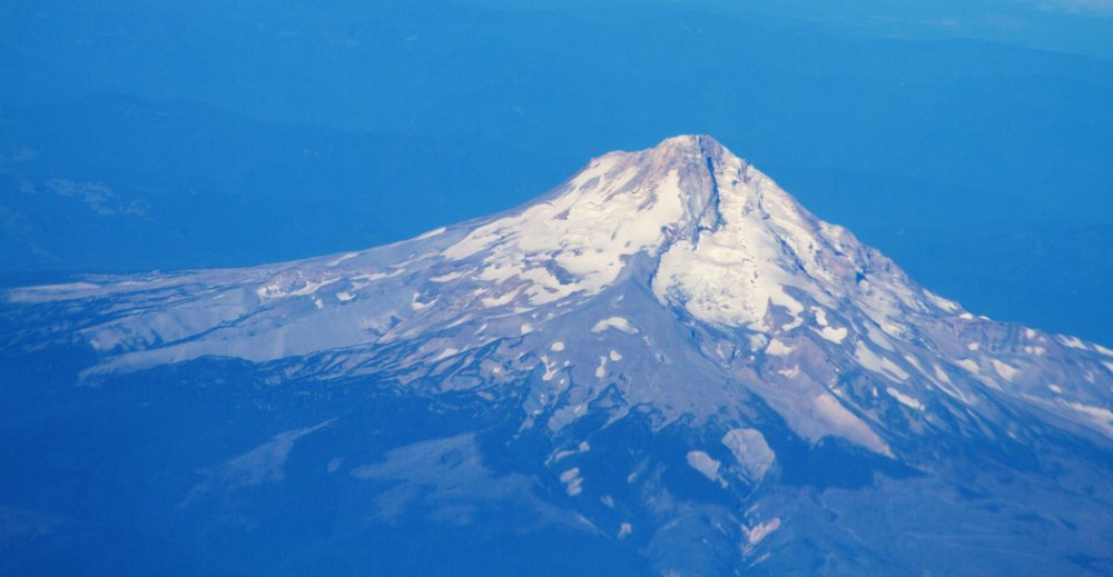 Mt Hood on the flight from Kalispell, Montana to Tucson, Arizona. The Dalles is close to Mt. Hood.