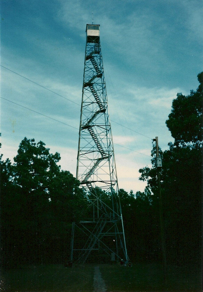 Fire tower in the Ozarks. Yep, we did climb it but I have not located any pictures from the top.