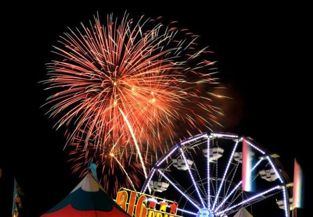 Alameda County Fairgrounds - 4501 Pleasonton Ave. (Pleasonton)Catch the fireworks with a soundtrack performed by the Oakland Symphony begining at 9:30pm. For the best views, head to the horse racing track. GATES CLOSE AT 6PM. More Info
