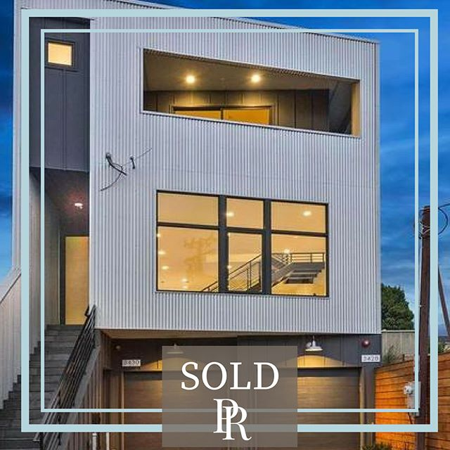 "Chic Ultra Industrial home just SOLD to our wonderful buyers who are ready to experience Oakland's cool urban lifestyle in true style. ⠀ ⠀ 3428 HELEN STREET, OAKLAND, CA 94608⠀ 4 Bed | 3.5 Bath | 2125SF | 1 Garage Parking⠀ ⠀ Spotless brand new construction in this ultra industrial  West Oakland home. The home features a suspended staircase, soaring ceilings, an elegant floor plan, luxury finishes, wide plank oak flooring, custom tile, quartz counters, radiant heating and designer lighting. Spacious backyard and views make this a true ""Modicum of Charm"" home. ⠀ ⠀ SOLD for $1,015,000. Buyer Represented.⠀ ⠀ Next Level East Bay Real Estate Representation! ⠀ PATTY ROGERS 