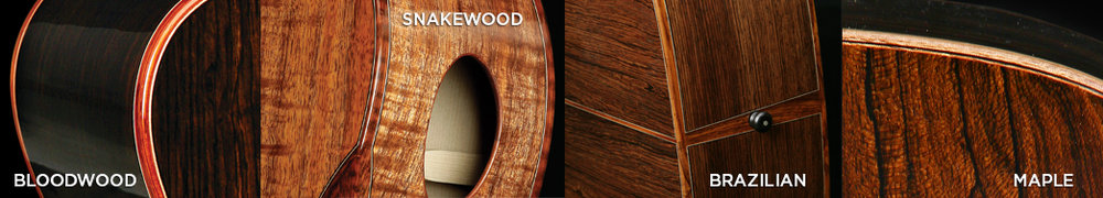 Shown above is how your binding choice can really delineate the accompanying back & side tone woods.