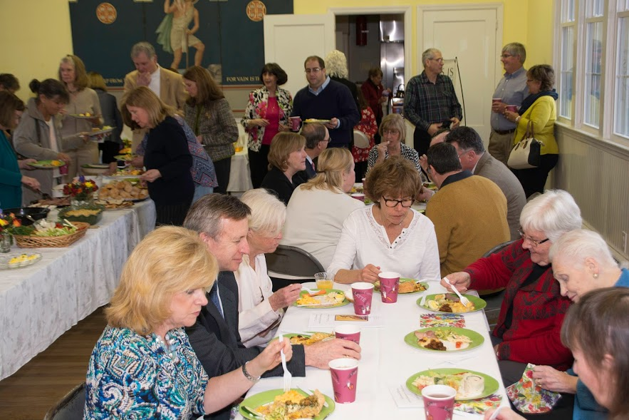 St. John's feasts at Mother Val's Installation Brunch