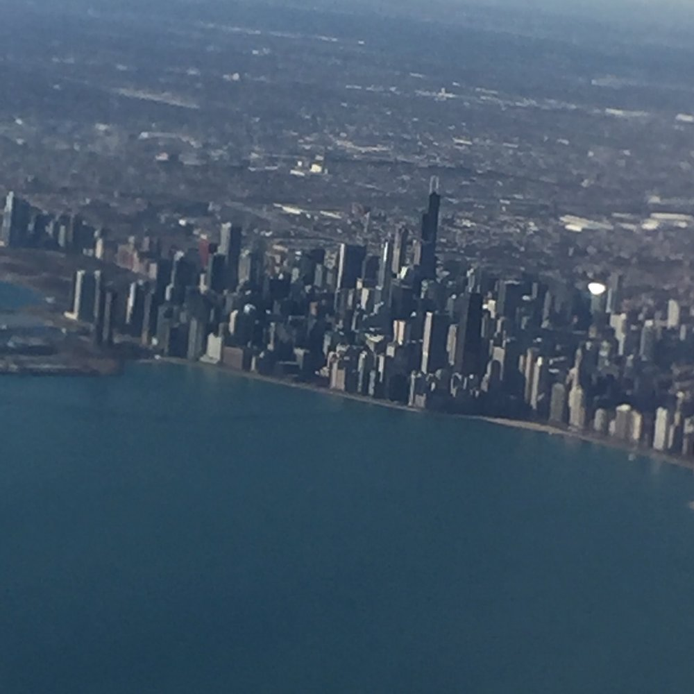 Obligatory picture of Chicago from the plane...
