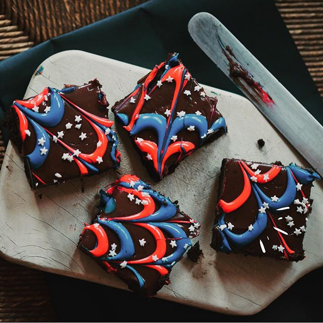 Patriotism begins with brownies. I DON'T MAKE THE RULES, IT'S IN THE CONSTITUTION. 🇺🇸🍪#4thofjulyweekend🇺🇸💥🇺🇸