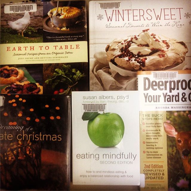 What we're reading. Deer, desserts, delish! Check it out at the #library.