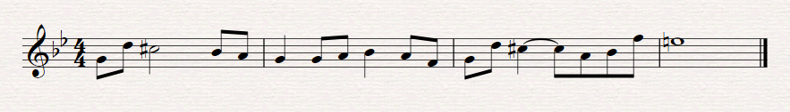 Battle Theme in G minor.