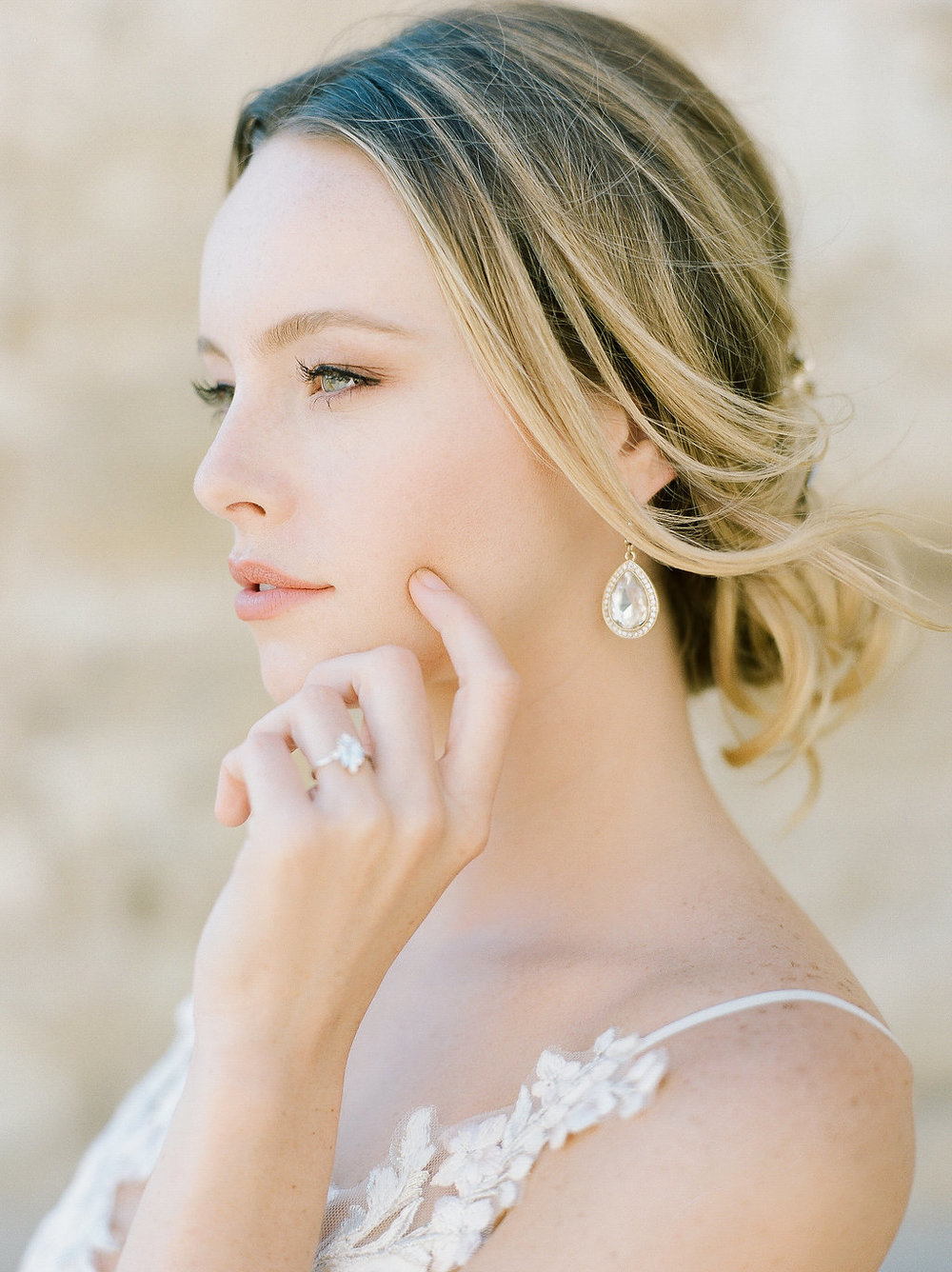 Spanish Mission Style Wedding Ideas Bridal Summer Flowers Finding Flora Wedding Sparrow Fine Art Suzie Saltzman Engagement Ring