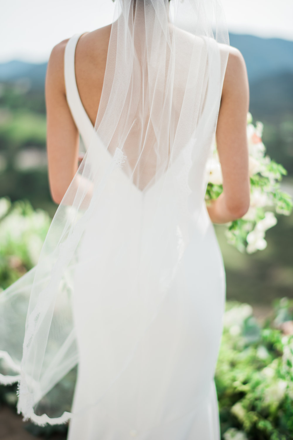 Spring Wedding at Romantic Hilltop Vineyard Malibu Rocky Oaks Bridal Veil Sally Pinera Finding Flora So Happi Together