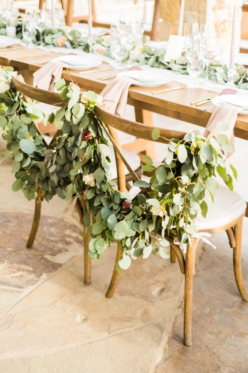 Spring Wedding at Romantic Hilltop Vineyard Malibu Rocky Oaks Sally Pinera Finding Flora Chair Decor Garland Greenery Sweetheart Table So Happi Together
