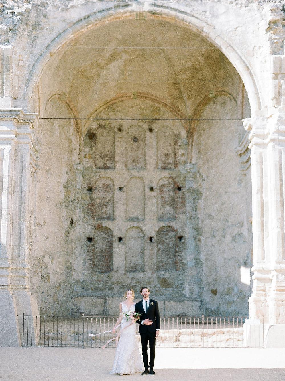 Spanish Mission Style Wedding Ideas Summer Flowers Finding Flora San Juan Capistrano European Venues California Bride and Groom