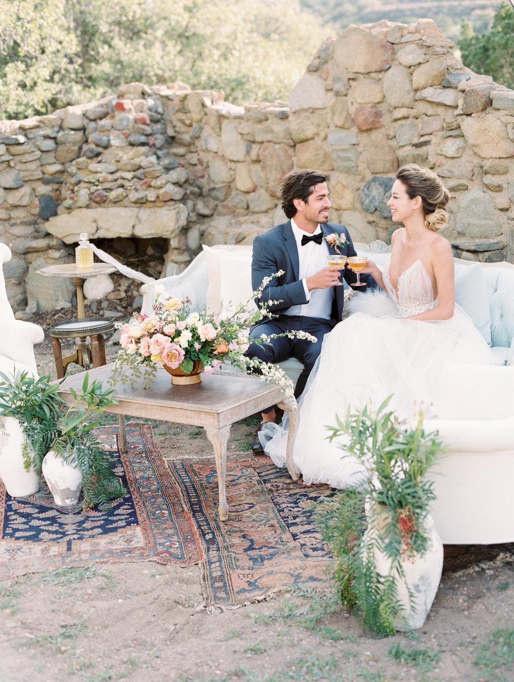 Bride and Groom Lounge Area Finding Flora Wedding Florist Utah California