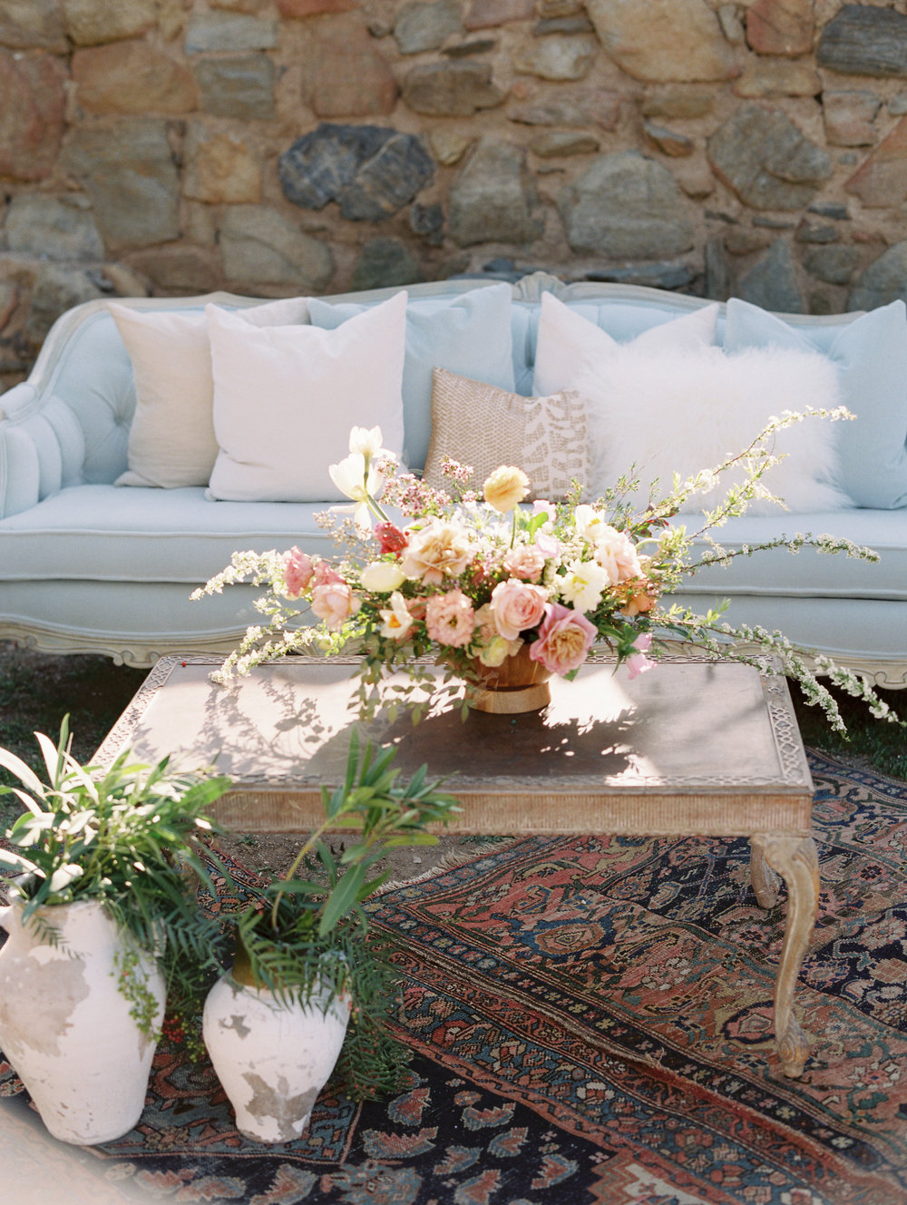 Wedding Lounge Flowers by Finding Flora